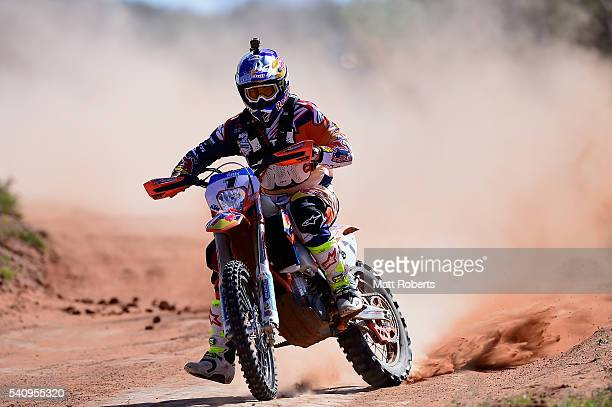 Toby Price competes during the 2016 Finke Desert Race on June 12 2016 in Alice Springs Australia