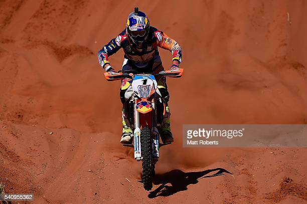 Toby Price competes during the 2016 Finke Desert Race on June 13 2016 in Alice Springs Australia