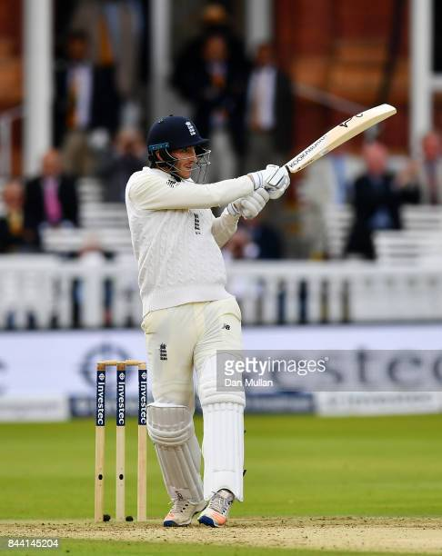 Toby RolandJones of England bats during day two of the 3rd Investec Test Match between England and the West Indies at Lord's Cricket Ground on...