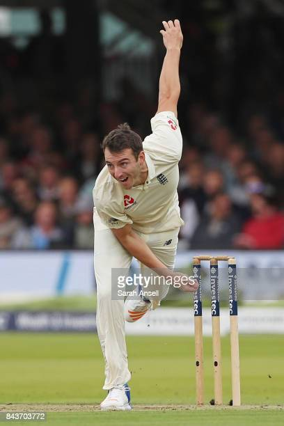 Toby RolandJones of England bowls during day one of the 1st Investec Test match between England and West Indies at Lord's Cricket Ground on September...