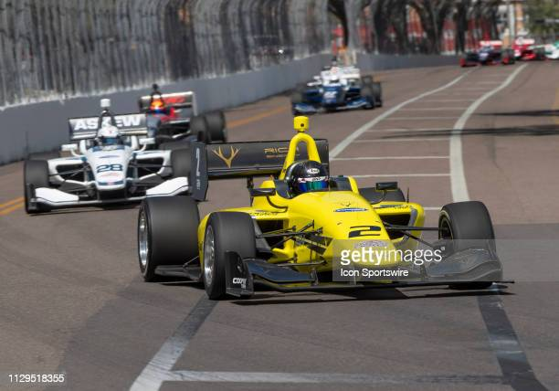Toby Sowery during the start of the Indy Lights Race of St Petersburg on March 9 in St Petersburg FL