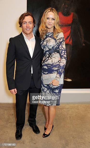 Toby Stephens and AnnaLouise Plowman attend the Bottletop/Full Circle 2013 Summer Party at Victoria Miro Gallery on June 7 2013 in London England