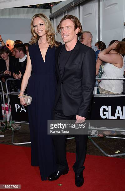 Toby Stephens and guest attend the Glamour Women of the Year Awards 2013 at Berkeley Square Gardens on June 4 2013 in London England