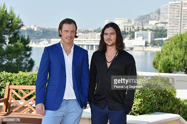Toby Stephens and Luke Arnold attends a photocall for the TV Show ' Black Sails' as part of the 54th MonteCarlo Television Festival on June 10 2014...