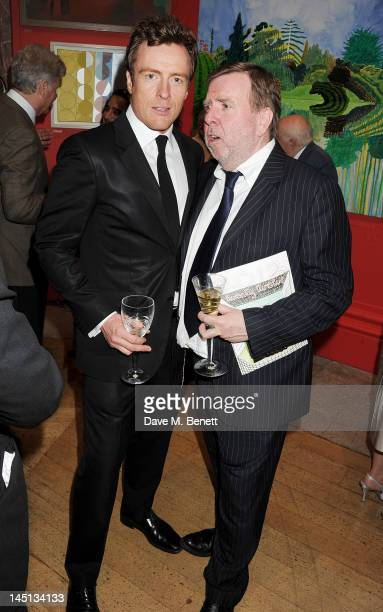 Toby Stephens and Timothy Spall attend 'A Celebration Of The Arts' at Royal Academy of Arts on May 23 2012 in London England
