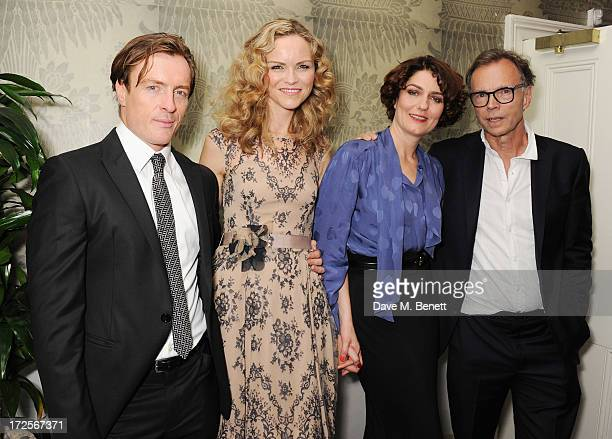 Toby Stephens Anna Louise Plowman Anna Chancellor and Jonathan Kent attend 'Private Lives' Press Night at Kettners on July 3 2013 in London England