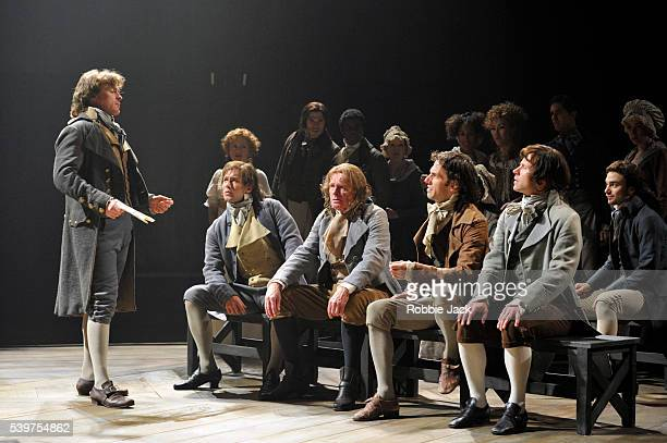 Toby Stephens as Georges Danton with artists of the company in the National Theatre's production of Georg Buchner's Dantons Death directed by Michael...
