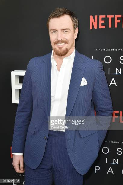 Toby Stephens attends the 'Lost In Space' Season 1 Premiere at ArcLight Cinerama Dome on April 9 2018 in Hollywood California