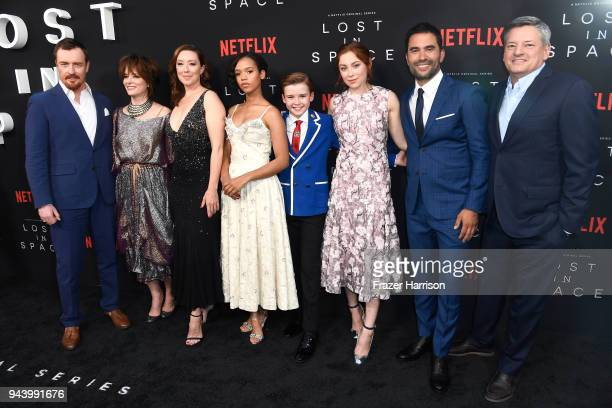 Toby Stephens Parker Posey Molly Parker Taylor Russell Maxwell Jenkins Mina Sundwall Ignacio Serricchio and Netflix CCO Ted Sarandos attend the...