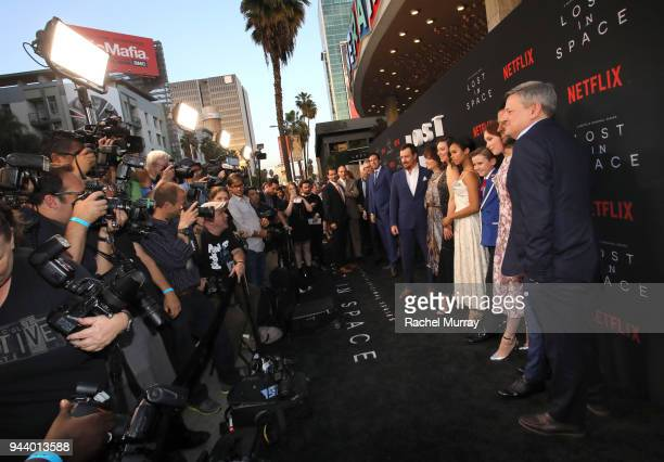 Toby Stephens Parker Posey Molly Parker Taylor Russell Maxwell Jenkins Mina Sundwall Ignacio Serricchio and Chief Content Officer Netflix Ted...