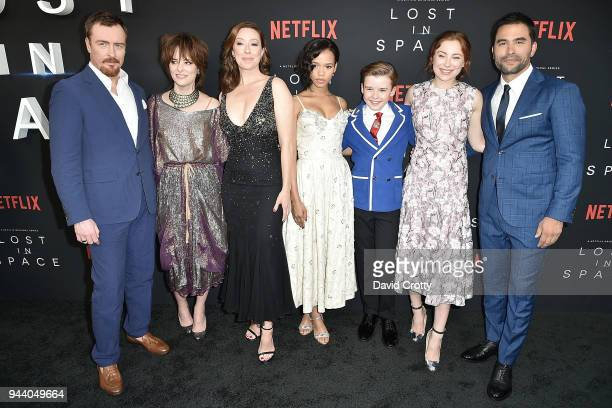 Toby Stephens Parker Posey Molly Parker Taylor Russell Maxwell Jenkins Mina Sundwall and Ignacio Serricchio attend the 'Lost In Space' Season 1...
