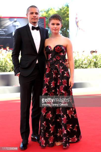 Toby Wallace and Eliza Scanlen walk the red carpet ahead of the Babyteeth screening during the 76th Venice Film Festival at Sala Grande on September...