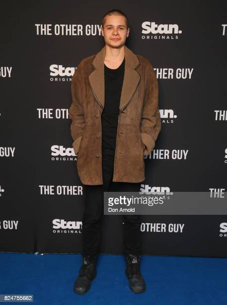 Toby Wallace arrives ahead of the premiere of Matt Okine's new series 'The Other Guy' at Museum of Contemporary Art on July 31 2017 in Sydney...