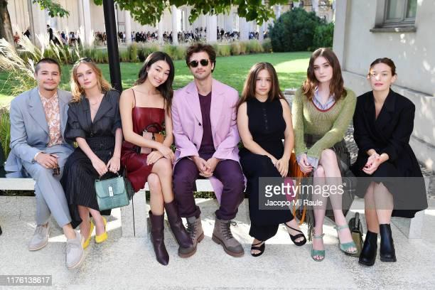 Toby Wallace Olivia DeJonge Natasha Bordizzo Alex Fitzalan Gideon Adlon Grace Victoria Cox and Rachel Keller attend the Salvatore Ferragamo show...