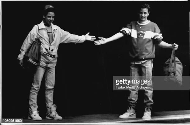 Toby Watson wearing Left ... Rebockpump shoes ... $400.00, levi 501 Jeans ... $89.95, Reebok T-shirt ... $34.99, Adidas Top ... $79.99, Digital Watch...