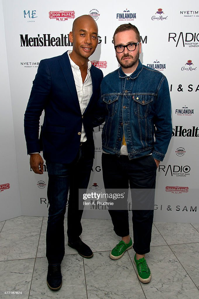 Toby Wiseman and Chuka Umunna attends the Men's Health X Agi & Sam LCM Party at Radio Bar at the ME Hotel on June 14, 2015 in London, England.