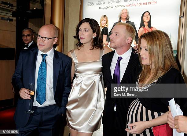 Toby Young Margo Stilley Simon Pegg and Gillian Anderson arrive at the UK film premiere of 'How To Lose Friends And Alienate People' at the Empire...