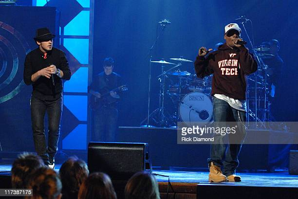 tobyMac and Kirk Franklin during 38th Annual GMA DOVE Awards Show at Grand Old Opry in Nashville Tennessee United States