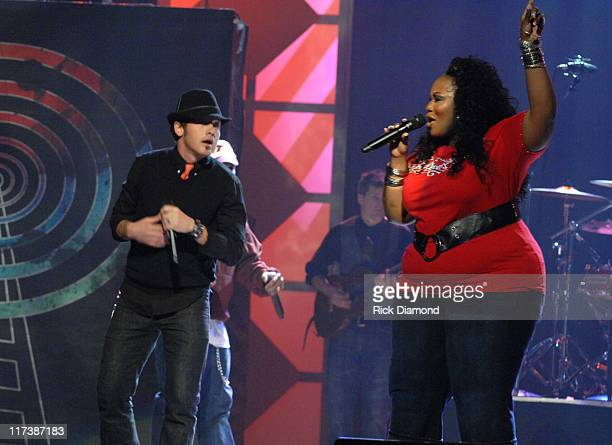 tobyMac and Mandisa during 38th Annual GMA DOVE Awards Show at Grand Old Opry in Nashville Tennessee United States