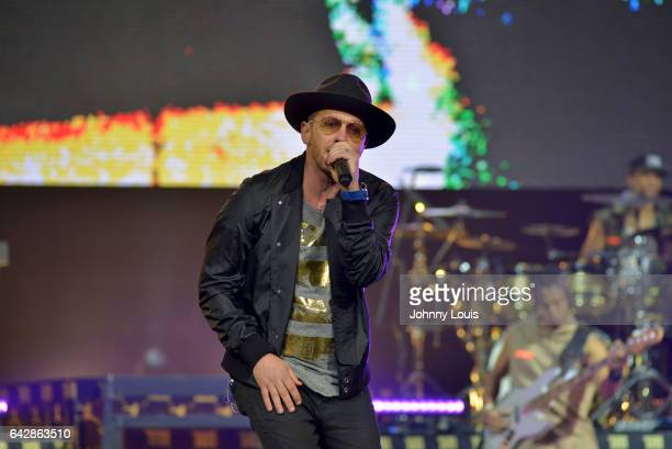 TobyMac performs onstage during the 'Hits Deep Tour' at BBT Center on February 18 2017 in Sunrise Florida