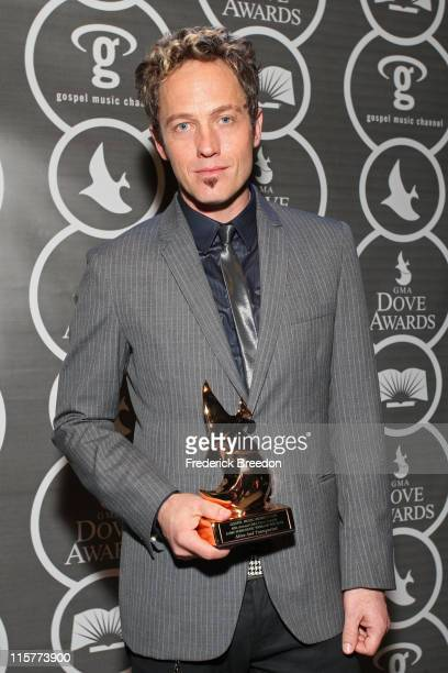 TobyMac poses in the press room at the 40th Annual GMA Dove Awards held at the Grand Ole Opry House on April 23 2009 in Nashville Tennessee