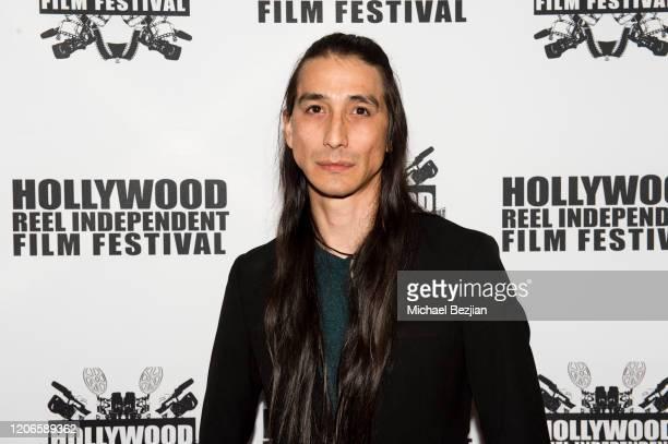 Tocala Black Elk arrives at A Dark Foe Film Premiere on February 15 2020 in Los Angeles California