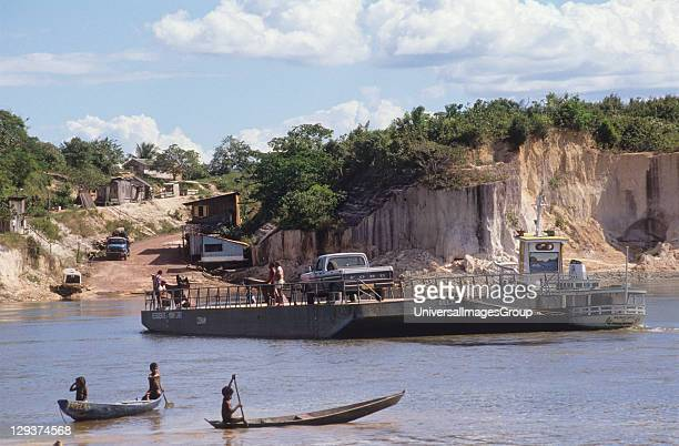 Tocantins River Brazil Vicinity Maraba Amazon Migrant Farmers Have Destroyed Much Of The Forest Along The River This river is heavily polluted with...