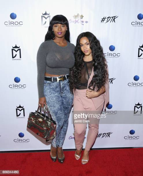 Toccara Jones and Rosa Acosta attend the Single Release Party For Dom Marcell's single #DTK at Penthouse Nightclub Dayclub on March 21 2017 in West...