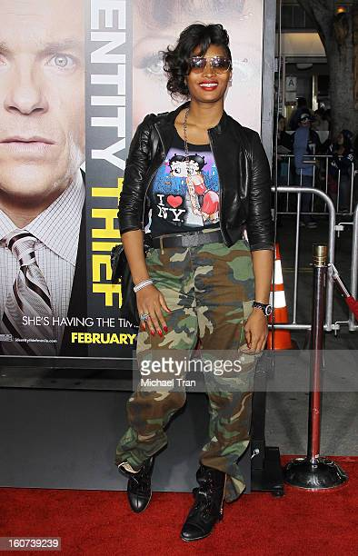 """Toccara Jones arrives at the Los Angeles premiere of """"Identity Thief"""" held at Mann Village Theatre on February 4, 2013 in Westwood, California."""