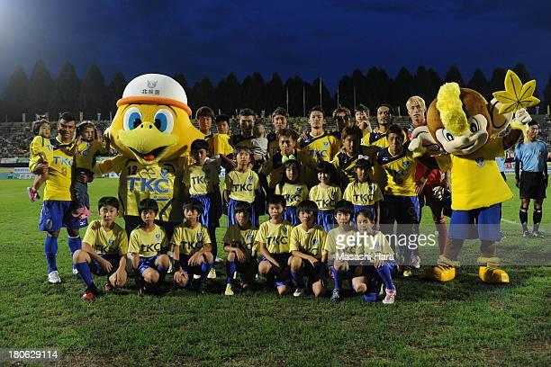 Tochigi SC players pose for photograph prior to the JLeague second division match between Tochigi SC and Consadole Sapporo at Tochigi Green Stadium...