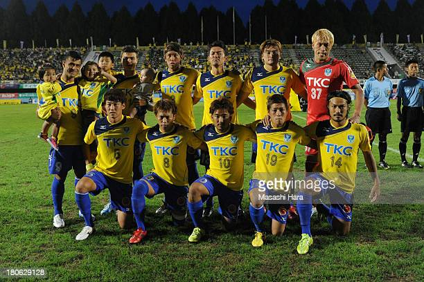 Tochigi SC players pose for photograph prior to the JLeague second division match between Tochigi SC and Consadole Sapporo at Tochigi Green Stadium...