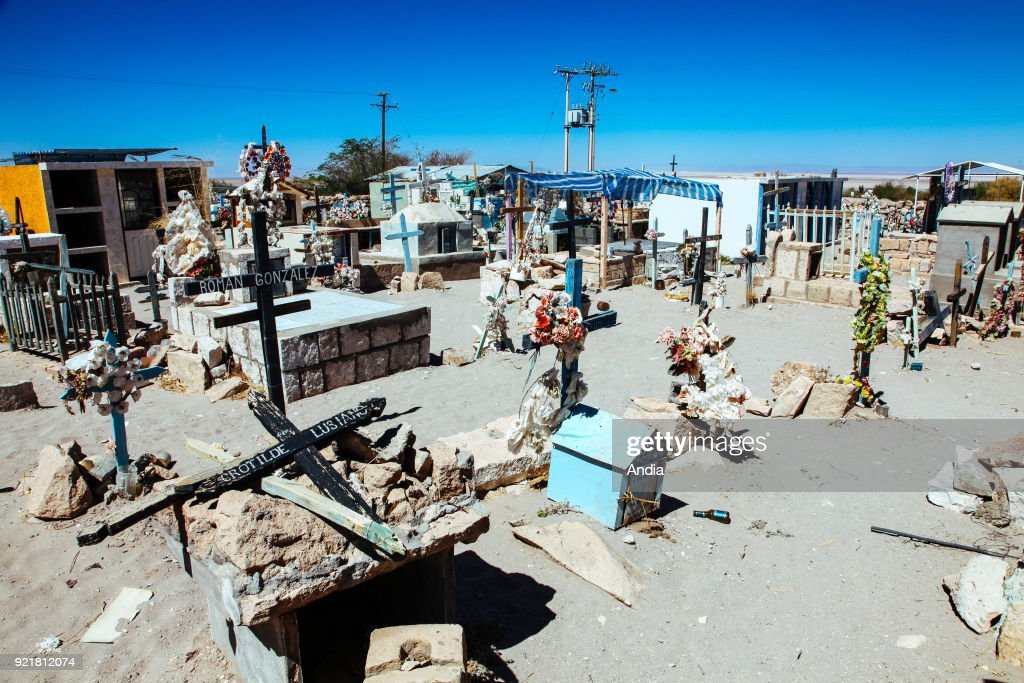oasis village of Toconao in the Atacama desert, the cemetery.