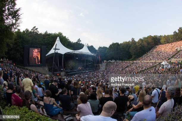Tocotronic perform live on stage in support of Beatsteaks during a concert at Waldbuehne Berlin on June 9 2018 in Berlin Germany