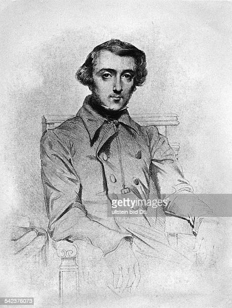 Tocqueville Alexis de *18051859 Historian politician France PortraitPhotographer Walter Gircke/ Lithographic print by Chasseriau undatet