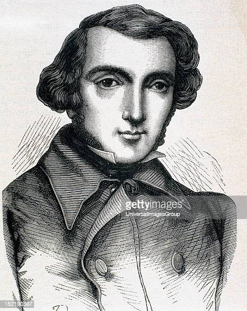 Tocqueville Alexis Henri ClŽrete Earl of French writer and politician Engraving
