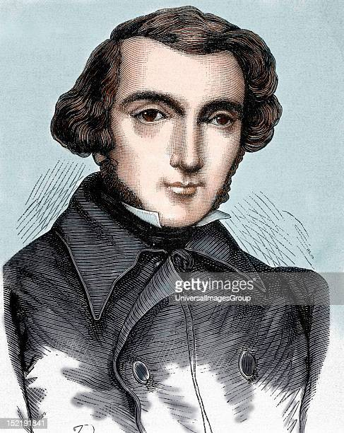 Tocqueville Alexis Henri ClŽrete Earl of French writer and politician The nineteenth century colored engraving