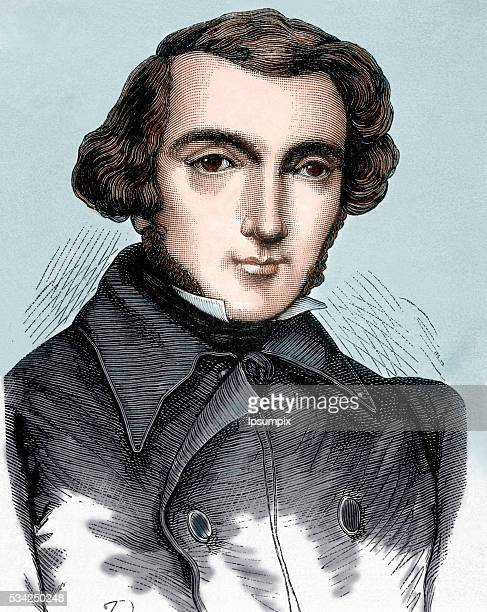 Tocqueville Alexis Henri Clérete Earl of French writer and politician The nineteenth century colored engraving