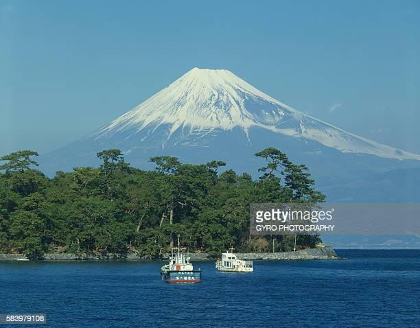 Toda harbor and Mt. Fuji, Shizuoka Prefecture, Japan