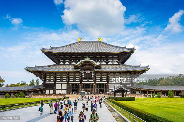 todaiji のメインホール daibutsuden 、奈良 - 奈良市 ストックフォトと画像