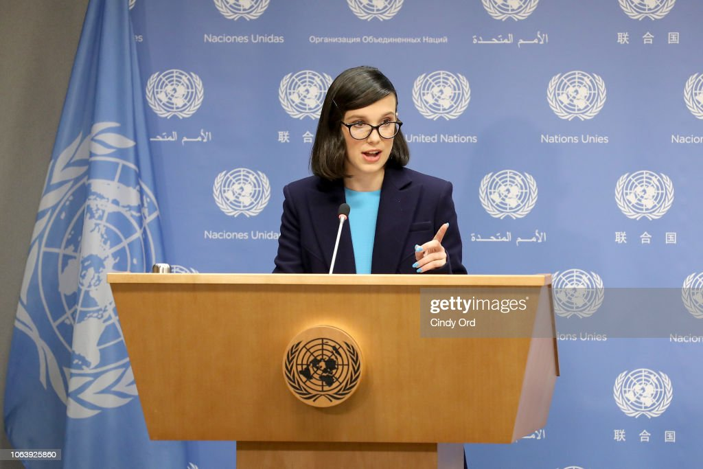 UNICEF Today Appointed Emmy-Nominated Actress Millie Bobby Brown As Its Youngest-Ever Goodwill Ambassador On World Children's Day : News Photo