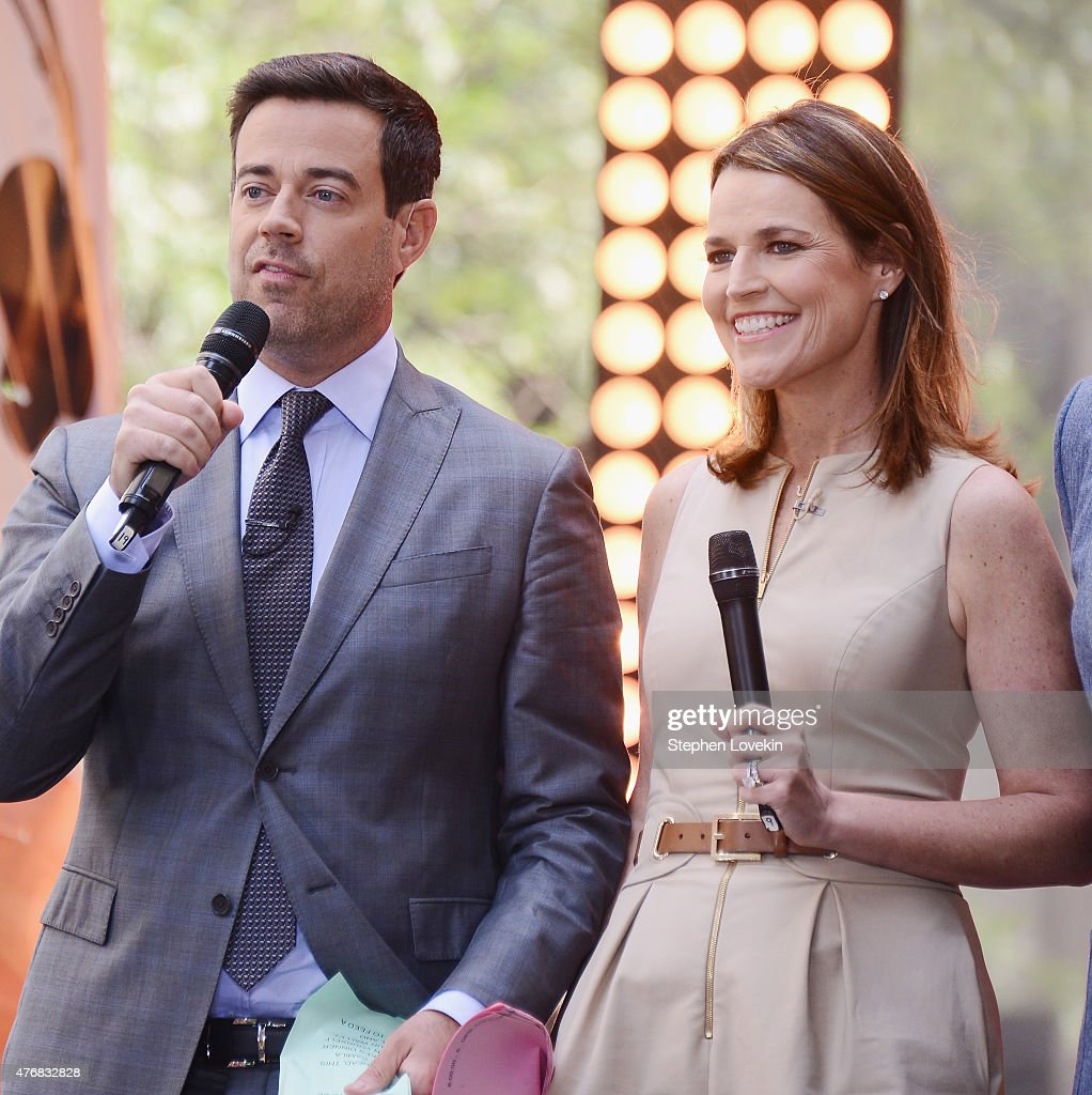 'Today' co-hosts Carson Daly and Savannah Guthrie on the set of NBC's 'Today' at the NBC's TODAY Show on June 12, 2015 in New York, New York.