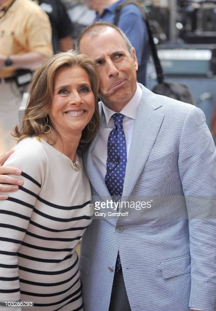 Today cohosts Meredith Vieira and Matt Lauer seen on NBC's Todayat Rockefeller Center on July 23 2010 in New York City