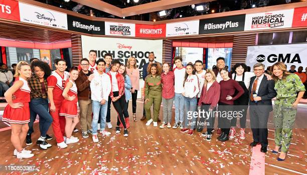 AMERICA Today Friday November 8 the stars of the upcoming Disney series High School Musical The Musical The Series Joshua Bassett Olivia Rodrigo...