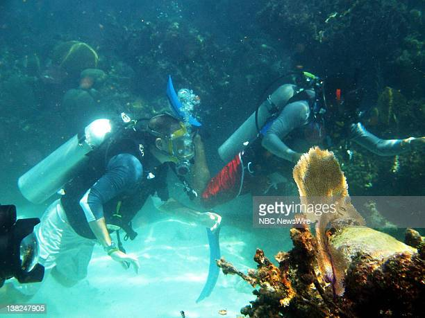 """Today Goes to the Ends of the Earth"""" -- Air Date -- Pictured: NBC News' Matt Lauer scuba diving in Belize as part of the """"Today Goes to the Ends of..."""