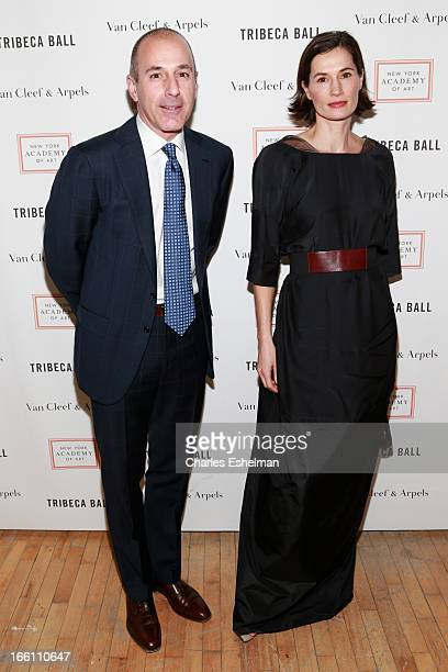 Today host Matt Lauer and wife Annette Roque attend 2013 Tribeca Ball at New York Academy of Art on April 8 2013 in New York City
