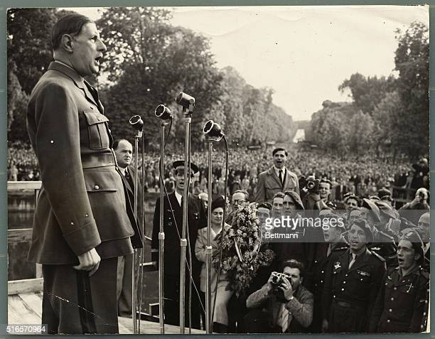 Today is Labor Day and while some 20000 communists were parading in Paris some 100000 people were listening to the speech by General De Gaulle in...