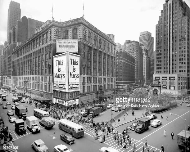 Today Macy's is a whole block long The Herald Building has gone Church tower was atop Broadway Tabernacle sold in 1902 New church is located at...