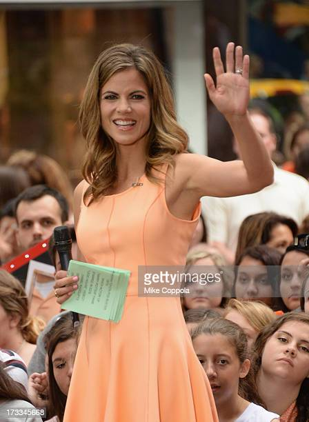 'Today' News Anchor Natalie Morales speaks to the crowd on NBC's 'Today' at the NBC's TODAY Show on July 12 2013 in New York New York