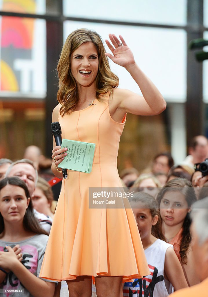 'Today' News Anchor Natalie Morales speaks to the crowd on NBC's TODAY Show on July 12, 2013 in New York, New York.