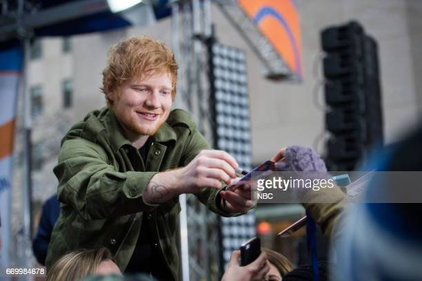 British star Ed Sheeran performs on NBC's 'Today Show' on Wednesday March 8, 2017 --